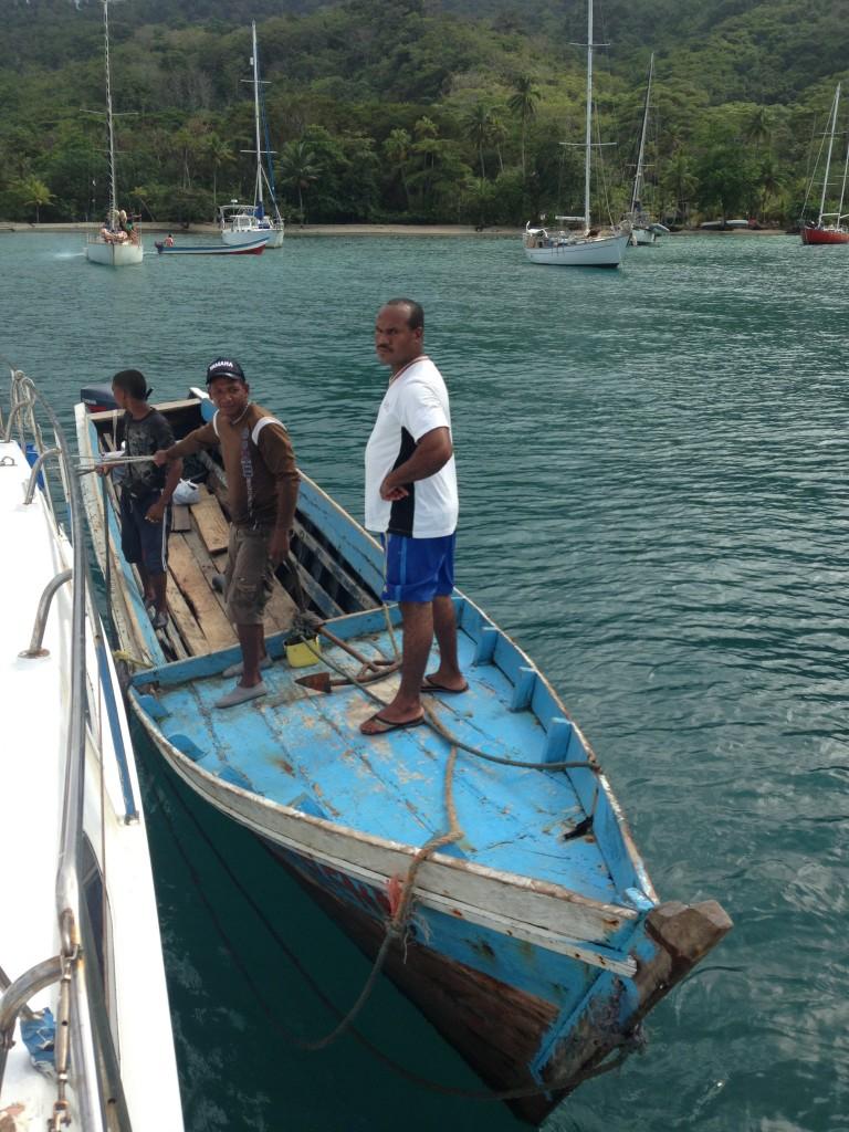 čamac sa kojim smo se prevezli do Paname i nazad