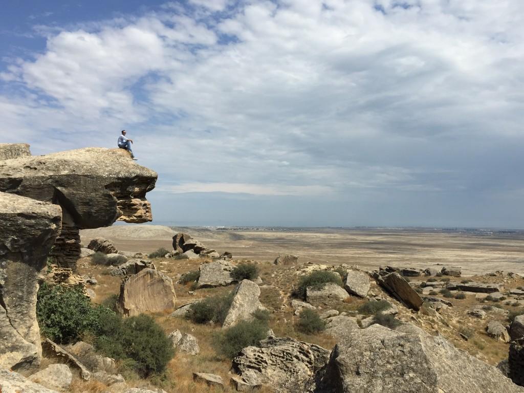 Pogled na Gobustan i Kaspijsko more