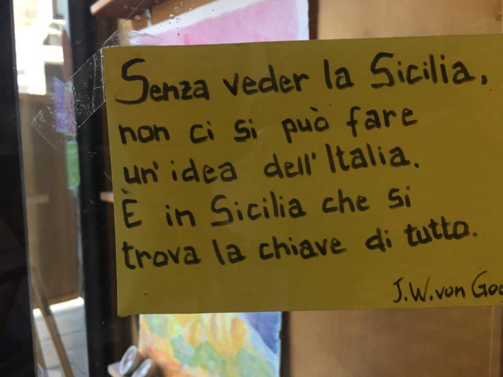 Senza veder La Sicilia